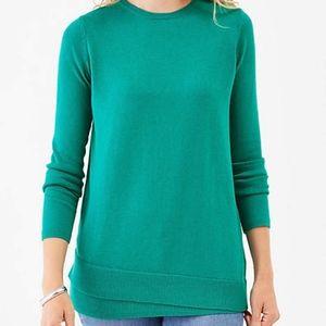 J. Jill Sweater Layered Hem Long Sleeve Crew Neck